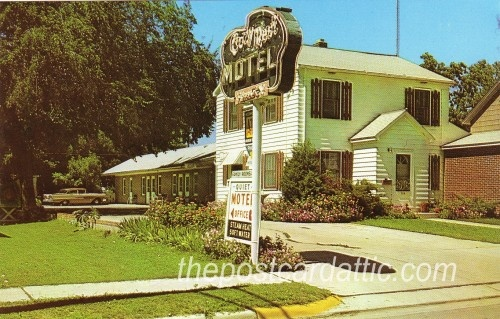 cozy rest motel luverne mn postcard minnesota postcards. Black Bedroom Furniture Sets. Home Design Ideas