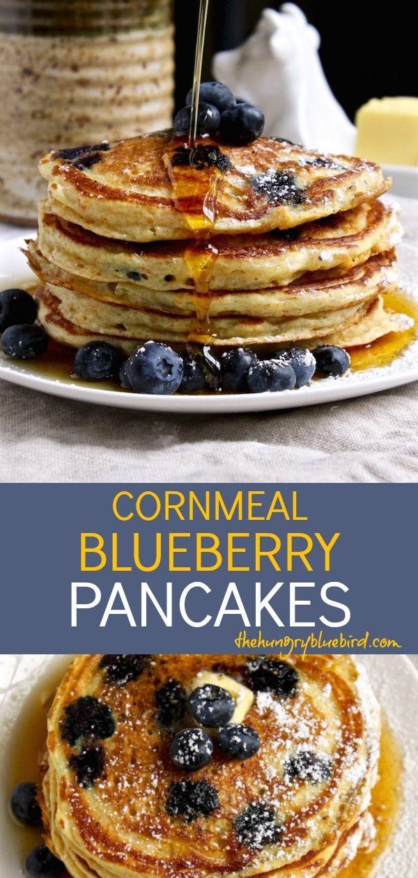 Cornmeal Blueberry Pancakes Recipe The Hungry Bluebird Recipe Blueberry Pancakes Recipe Blueberry Pancakes Recipes