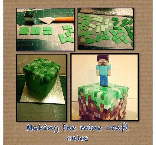 69 best Cakes Minecraft images on Pinterest Birthday party