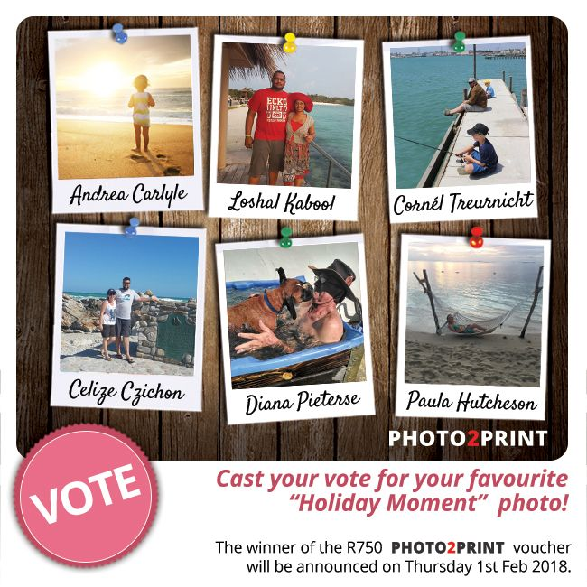 Vote now for our finalists!!! https://contest.fbapp.io/holiday-snaps-voting The winner of the R750 gift voucher will be announced on Thursday 1st Feb 2018. #checkthepics #votenow #stemnou