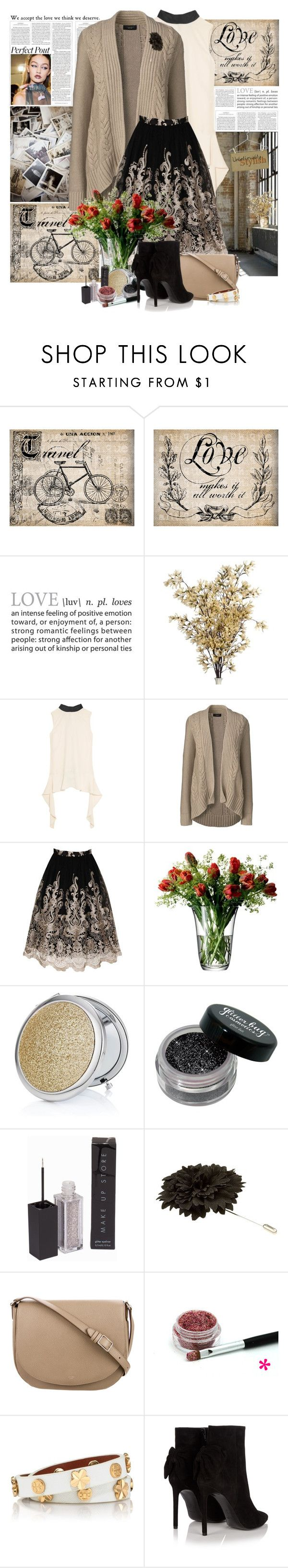 """Perfect Pout"" by summersunshinesk7 ❤ liked on Polyvore featuring Haute Hippie, Marni, Lands' End, Chi Chi, LSA International, MAKE UP STORE, Lanvin, Wallflower, CÉLINE and Tory Burch"