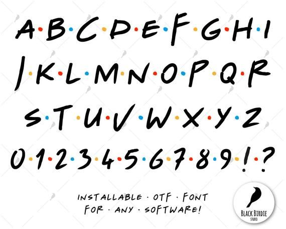 Inspired by Friends font svg, handwritten svg, decal svg