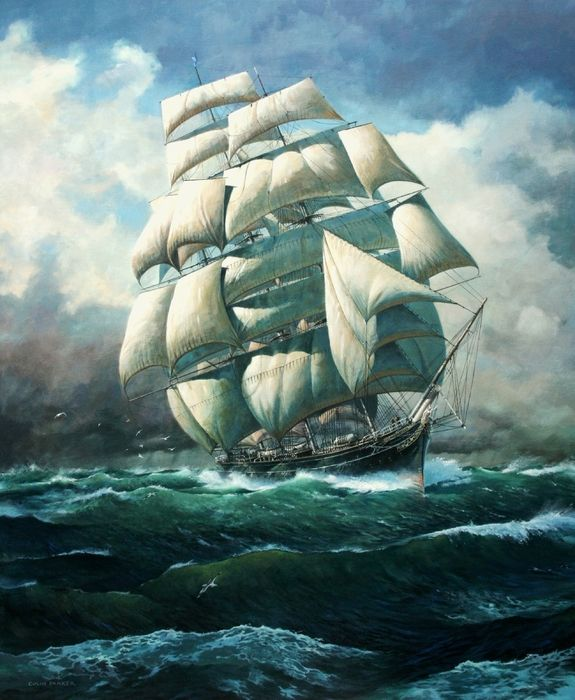 Tall ships Cutty Sark, 'Land Ho' by Colin Parker