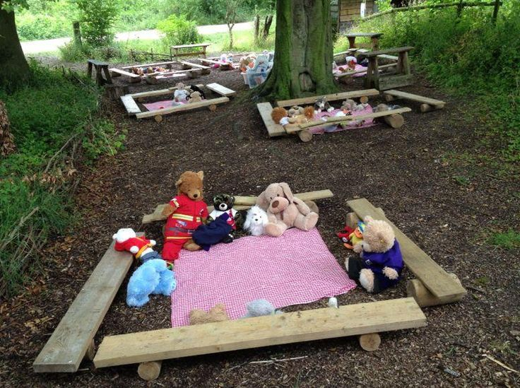 The teddys are waiting for the children to join them- did they eat any sandwiches? Catherine (BBOWT) Photographer Kate Sheard