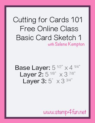 Create with Selene: Snow Day! How about a sketch challenge? Basic Cutting for Card Making and Stampin' Up One Wild Ride Stamp Set
