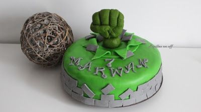 Papilles On/Off: Gâteau Hulk en pâte à sucre au thermomix ou sans (...