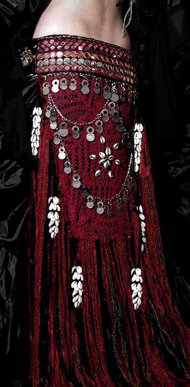 Tribal Gypsy Belly Dance Banjara Mirror by ScarletsGypsyLounge, $149.00