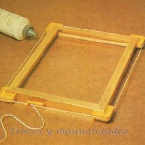 Handicraft, Ideas Para, Diy Crafts, Frames, Home Decor, Wooden Frames, Wood Frame House, Picture On Wood, Make Picture Frames