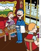 L'umorismo nasce dal voler intendere le parole alla lettera, senza tener conto del contesto. Il ragionamento del signor Veneranda non farebbe una piega se non fosse fatto in un ristorante, un luogo dove si va per mangiare.