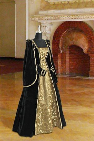 Renaissance Dress Handmade from Velvet and by YourDressmaker, $326.50