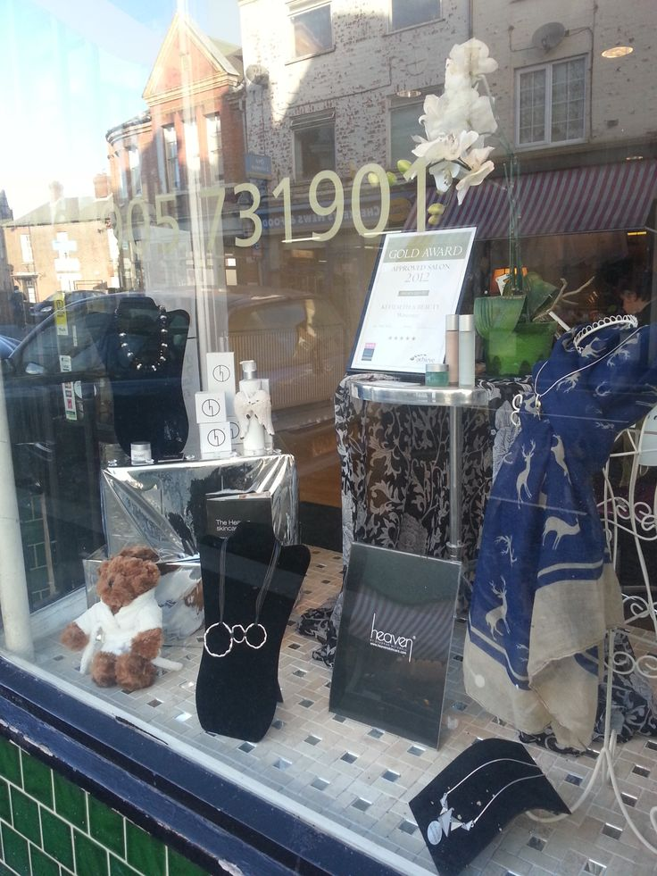 Window display Jan 2014 Chillistone Accessories can be purchased at Ki Beauty Salon Worcester