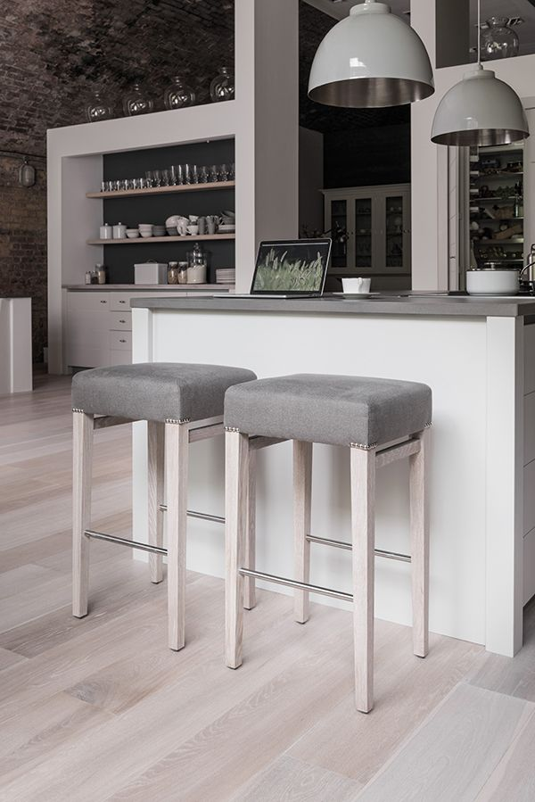 Limehouse kitchen and Shoreditch barstools #contemporary #kitchen #neptune #barstool www.neptune.com