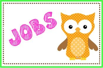 owl job chart printable