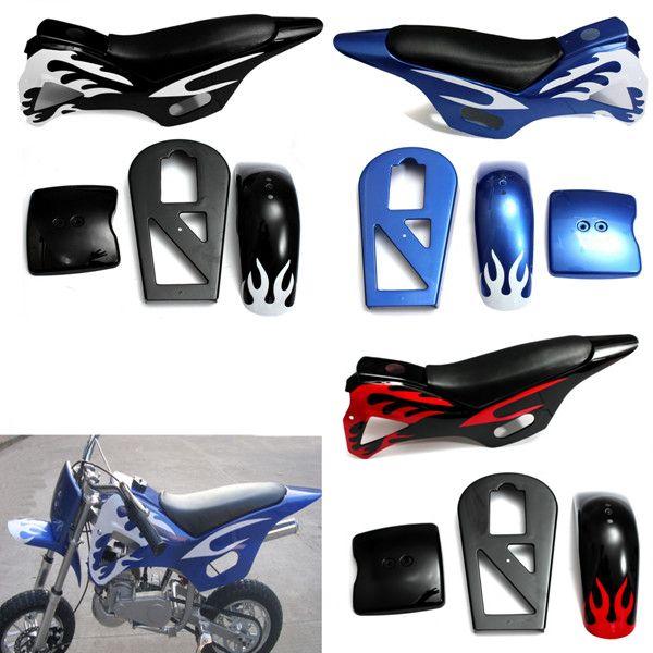 Fairing Kit Seat Flame For 49cc Mini Moto Dirt Quad Bike ATV