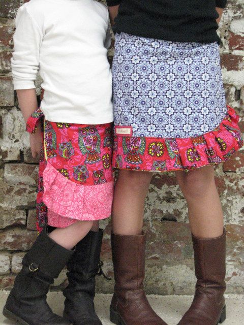 pdf MERRY-GO-ROUND Wrap Skirt pattern and tutorial...sizes 2T-6T, reversible wrap skirt via Etsy
