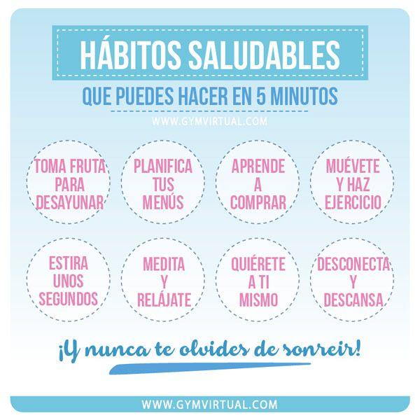 HÁBITOS SALUDABLES QUE PUEDES HACER EN 5 MINUTOS | GYM