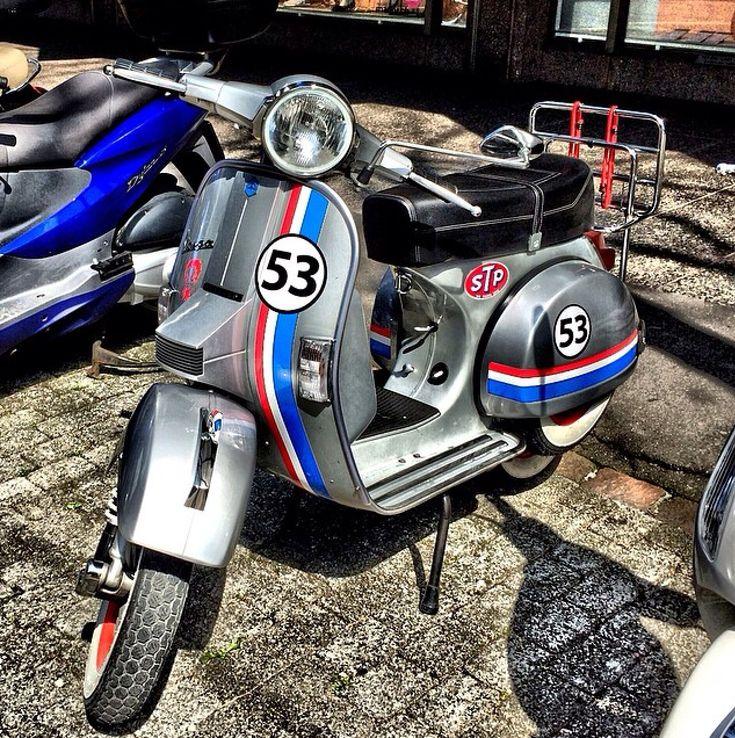 Racing stripe Vespa.