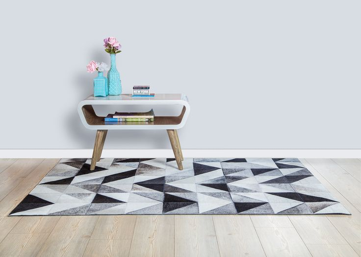 Tapete Pardo - Rug Pardo Design!  Tapetes en cuero Patchwork leather rug