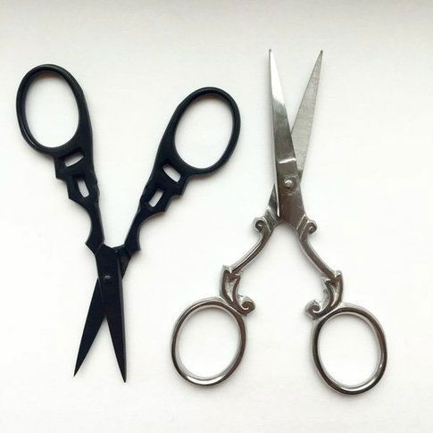 Stainless steel mustache scissors are ready to take your facial hair care to a new level! Crafted out of stainless steel, these scissors are extremely sharp and durable for a reliable and clean cut. D