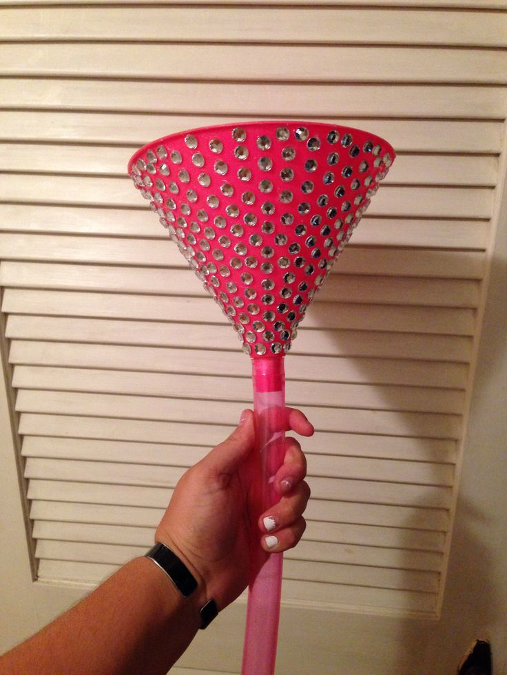 Bedazzled beer funnel! Pink and girly yet ready to party! #college