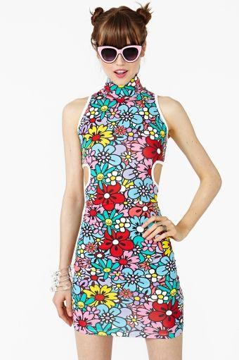 Flower Patch Dress   nasty gal