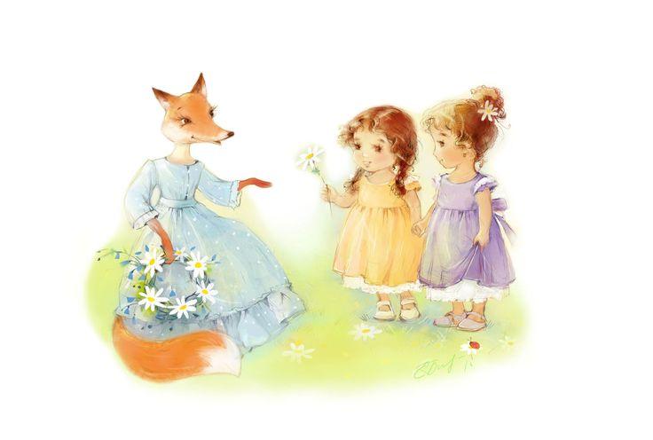 Персонажи для бренда детской одежды FoxTales Екатерина Бабок
