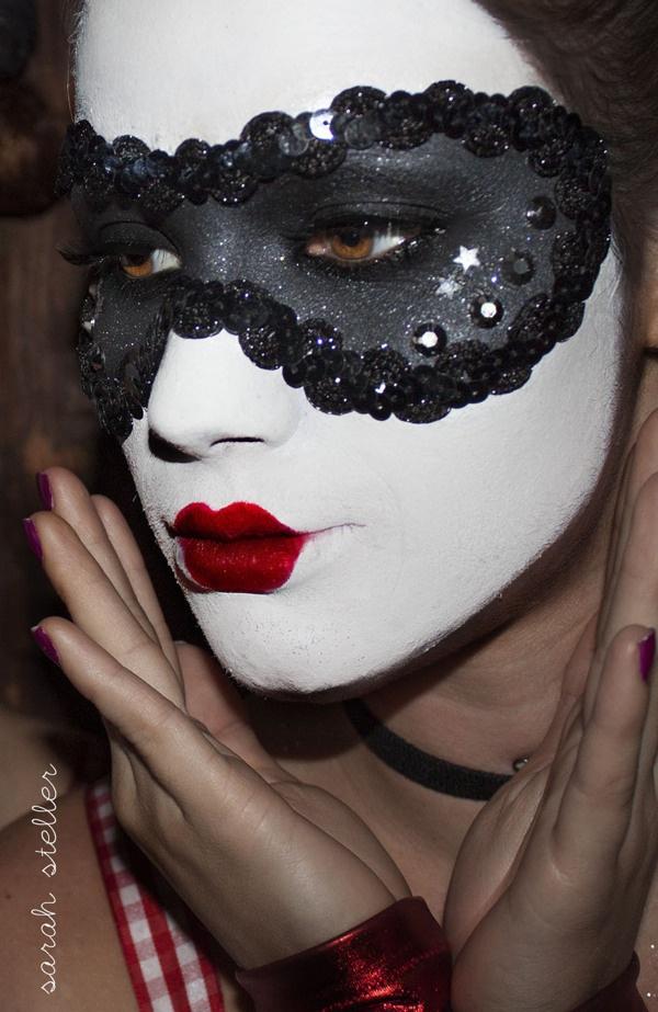 Mask Makeup by Sarah Steller, via Behance