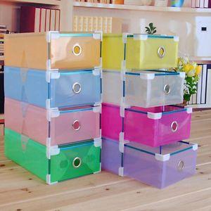 Pieghevoli-Scatole-Scarpe-Contenitori-Plastica-PP-Cassetto-Immagazzinaggio-Box
