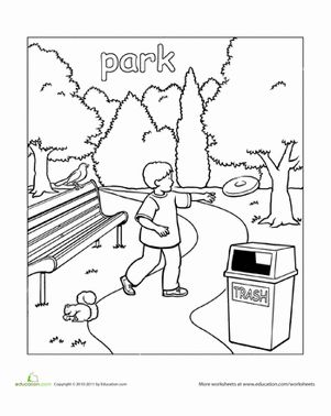around town coloring pages   park-coloring-page-places-preschool.gif   Law & Order ...