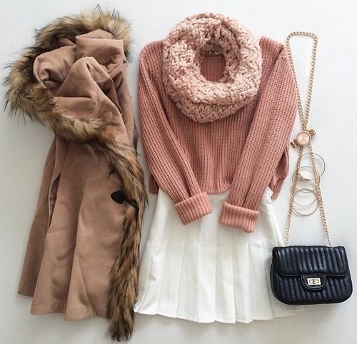 Take a look at girly outfits for teens 11 best outfits in the photos below and get ideas for your own outfits!!! Winter Outfits for teens | via Tumblr Image source