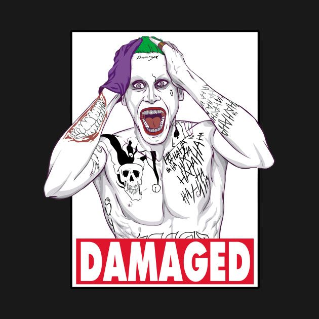 Awesome 'Joker+-+Damaged+%28+color+%29' design on TeePublic!
