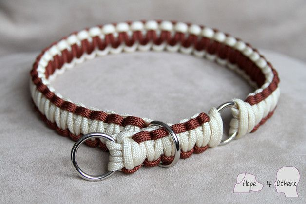 """Hund: Halsbänder - Hundehalsband Zug-Stopp """"Salomon"""" aus Paracord - ein Designerstück von Hope4Others bei DaWanda"""
