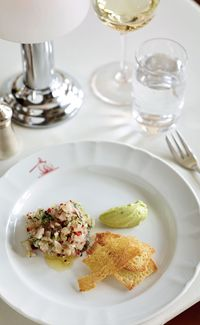 Sea bass with lime, chilli and avocado