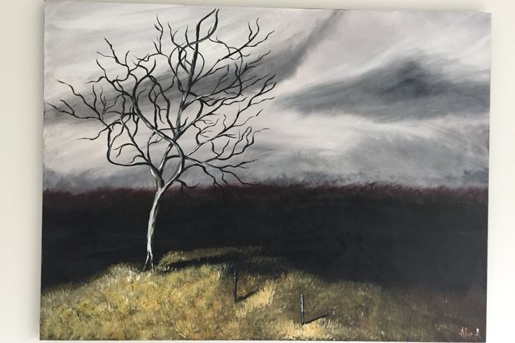 Autumn Landscape Acrylic Painting on Canvas / Tree Painting on Canvas / Acrylic Painting / Autumn Tree Painting by AllexaArt on Etsy https://www.etsy.com/listing/252024874/autumn-landscape-acrylic-painting-on