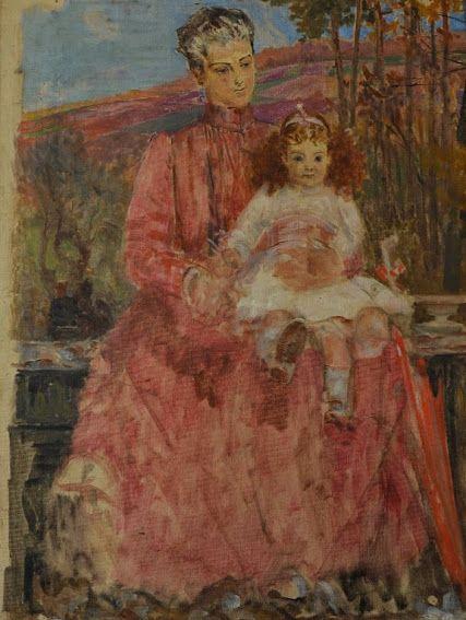 Karolina Lanckorońska z matką, Jacek Malczewski