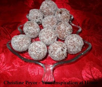 Chocolate Raspberry Rum Balls