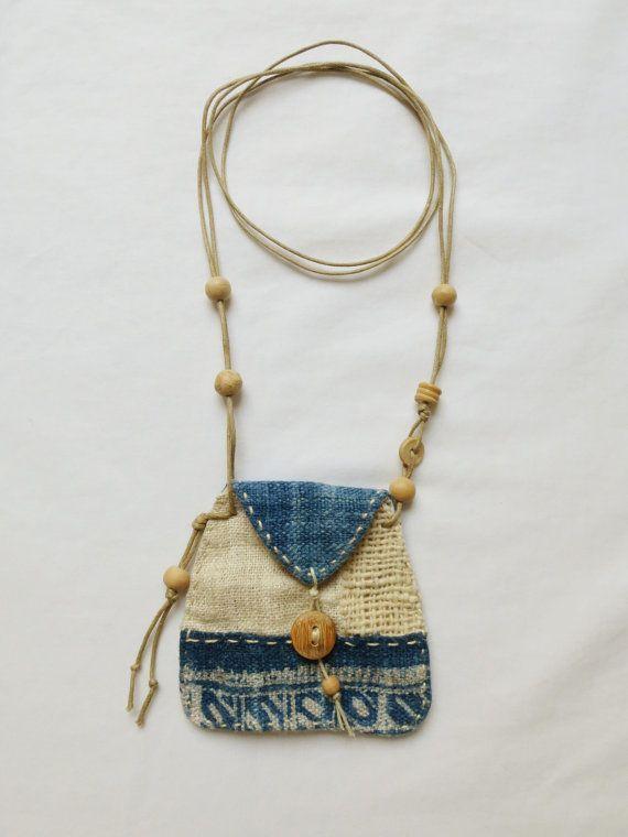 Indigo textile Talisman Pouch