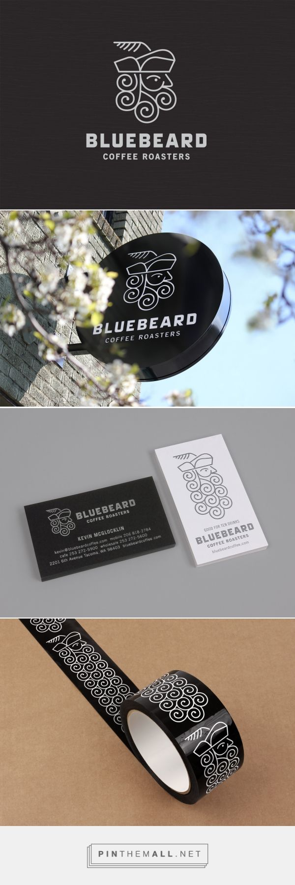 Seattle Branding & Design Firm   Bluebeard Coffee Roasters brand - created via https://pinthemall.net