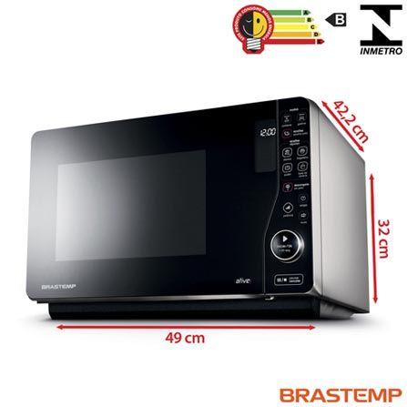 Imagem para Forno Micro-ondas Maxi Flat Brastemp com Capacidade de 23 Litros e Grill Preto - BMJ23AS a partir de Fast Shop