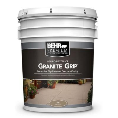 BEHR 5 Gal 65505 Tan Granite Grip Interior Exterior Concrete Paint Baseme