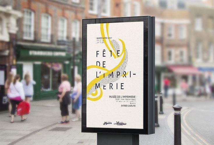 Consultez ce projet @Behance: \u201cProposition Affiche // Fête de l'imprimerie Nantes\u201d https://www.behance.net/gallery/32824777/Proposition-Affiche-Fete-de-limprimerie-Nantes
