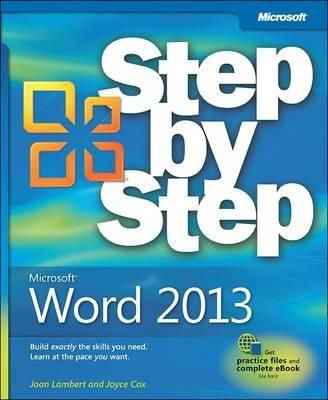 Microsoft Word 2013 Step by Step. Experience learning made easy-and quickly teach yourself how to format, publish, and share your content using Word 2013. With Step by Step, you set the pace-building and practicing the skills you need, just when you them! Available from Campbelltown and Wetherill Park college libraries. #Microsoft #Word2013