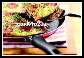 Spaanse omelet met gebakken ui en chorizo - Slank4u2