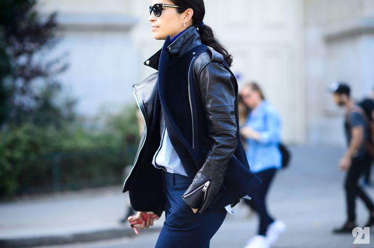 love that moto. #CarolineIssa in Paris.