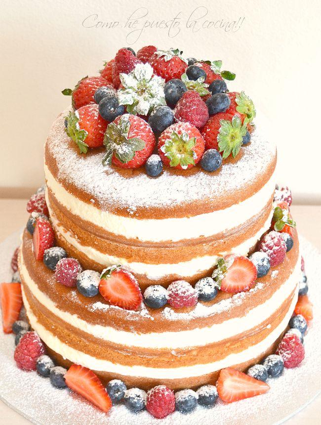 Naked cake de nata, mascarpone y frutos rojos