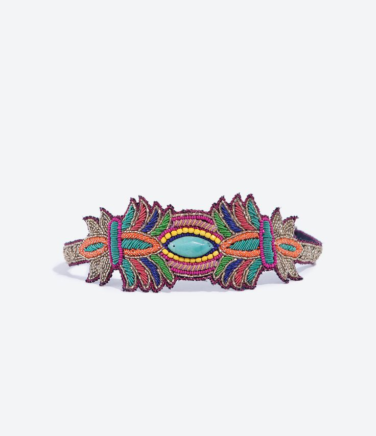 Image 1 of EMBROIDERED HAIRBAND from Zara