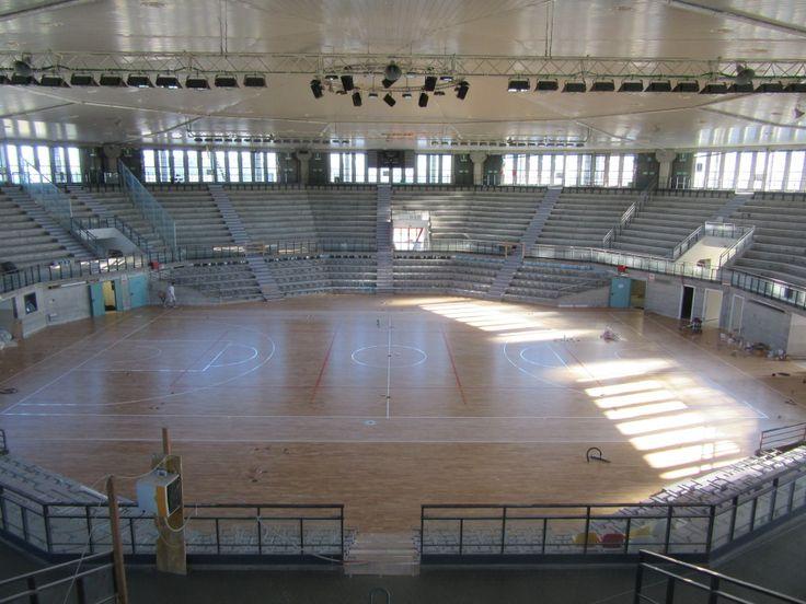 Il #parquet sportivo Dalla Riva Sportfloors al termine delle fasi di installazione