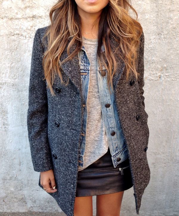 I wish I could dress like this!! I'm pretty bad at layering.