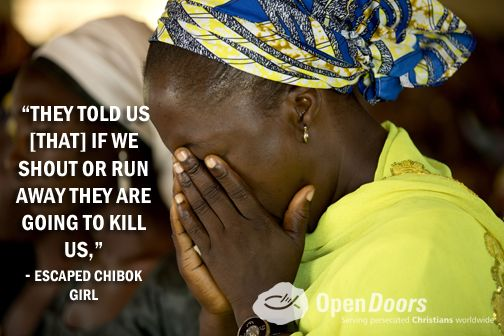 Today marks six months since the abduction of the Chibok girls. Pray that the Lord will give them and their parents His peace.
