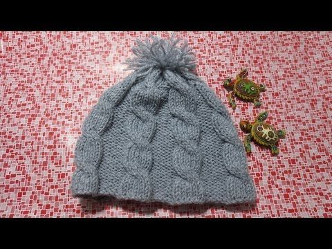 ▶ Aprende a tejer gorros de lana 2/2 - YouTube